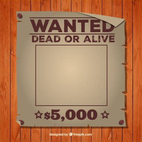 wanted dead or alive poster template free wanted dead or alive poster template vector free