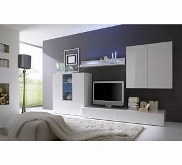 Meuble Salon Blanc : ensemble salon moderne laqu blanc gladys 4854 ~ Dode.kayakingforconservation.com Idées de Décoration