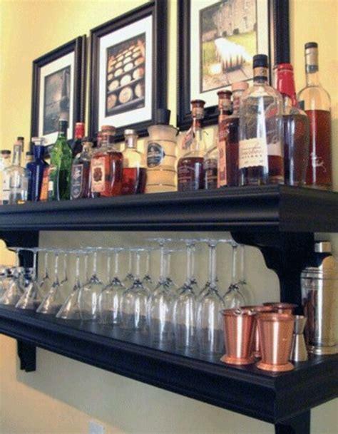 Bar Shelves by Mini Bar From Shelves Home Bar Ideas Mini