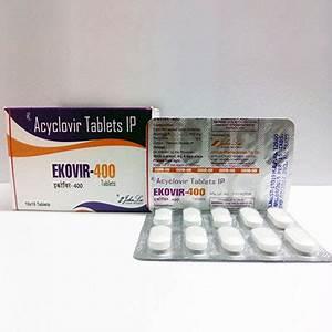 Ekovir  400mg  5 Pills   Made By John Lee In Usa