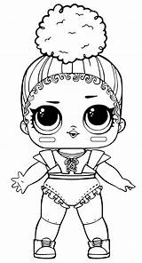 Lol Coloring Surprise Pages Dolls Printable Touchdown sketch template