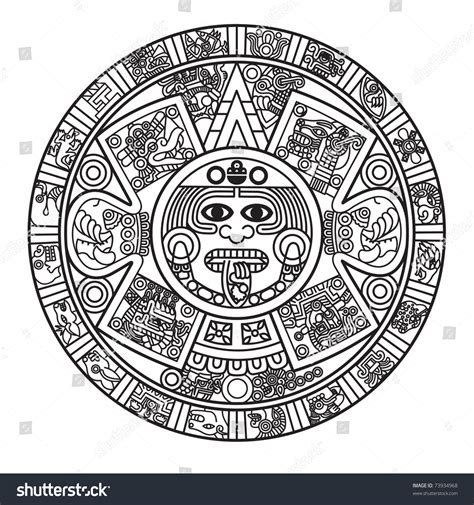 aztec calendar yangah solen