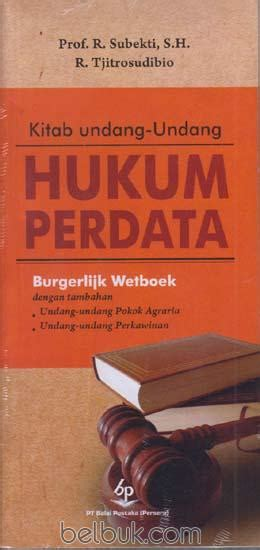 Buku Ajar Hukum Perdata kitab undang undang hukum perdata burgerlijk wetboek r