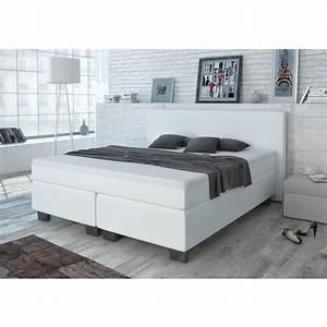 Lit Double Blanc : design lit avec sommier lit lit d 39 h tel grand lit lit double blanc 180x200 cm ~ Teatrodelosmanantiales.com Idées de Décoration