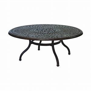 shop darlee series 60 aluminum round patio coffee table at With low round outdoor coffee table