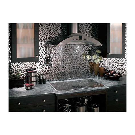 mosaique murale cuisine mosaique inox 1 plaque carrelage faience credence galet