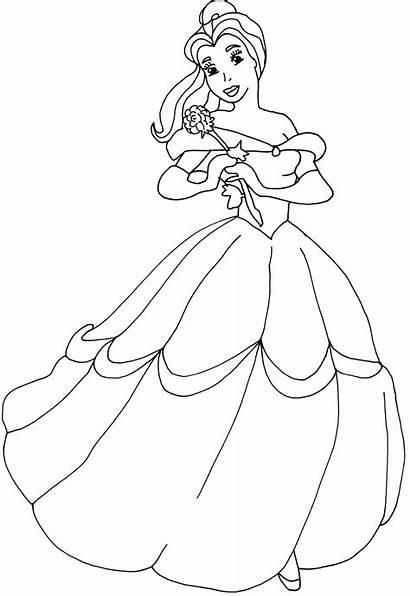 Coloring Princess Pages Sofia Belle Printable Disney