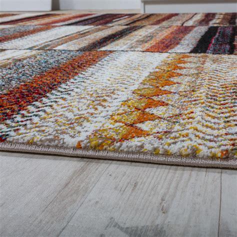 designer teppiche modern loribaft design gemustert teppich bunt beige meliert wohn und