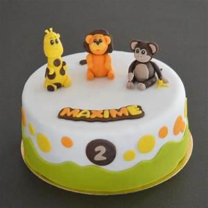 Gateau Anniversaire 2 Ans : g teau savane b b anniversaire 2 ans figurines en p te ~ Farleysfitness.com Idées de Décoration
