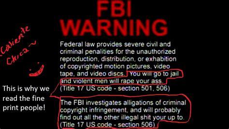 Fbi Warnings