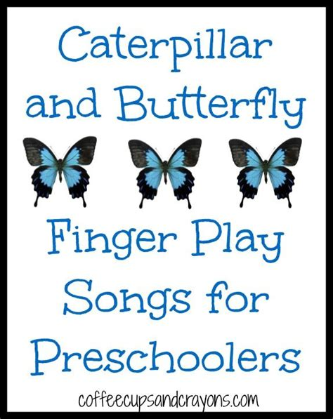 caterpillar and butterfly finger play songs learn 422 | d08f8d38012d5624d076afb791273e32