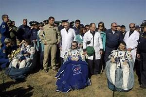 ISS astronauts land safely in Kazakhstan