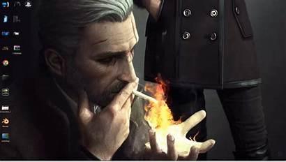 Witcher Geralt Rivia Noir Artwork Hunt Wild