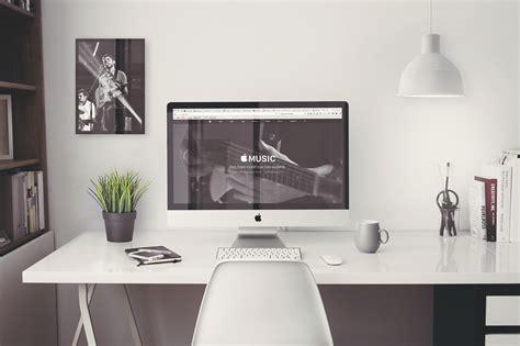 bureau pour imac bureau blanc laque imac