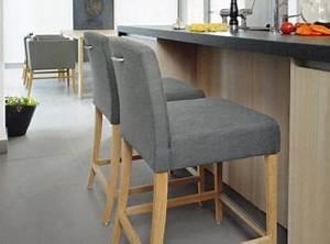 tabouret ilot cuisine lot central en palette bar et With deco cuisine avec chaise noir pied bois