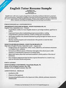 english tutor resume sample resume companion With english resume