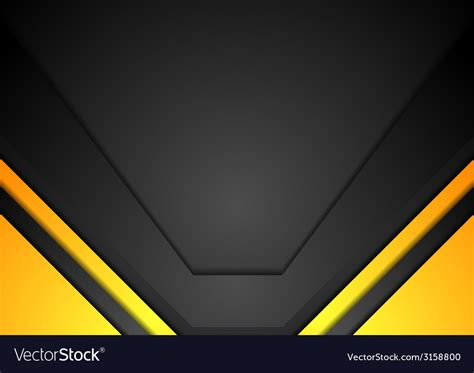 Abstract Black And Yellow Design by Yellow And Black Corporate Background Vector Image