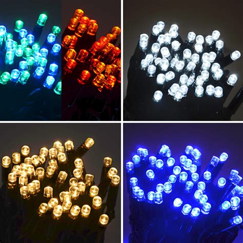100 led twinkling lights connectable waterproof outdoor