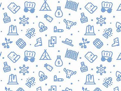 Pattern Patterns Wild West Background Dribbble Daily