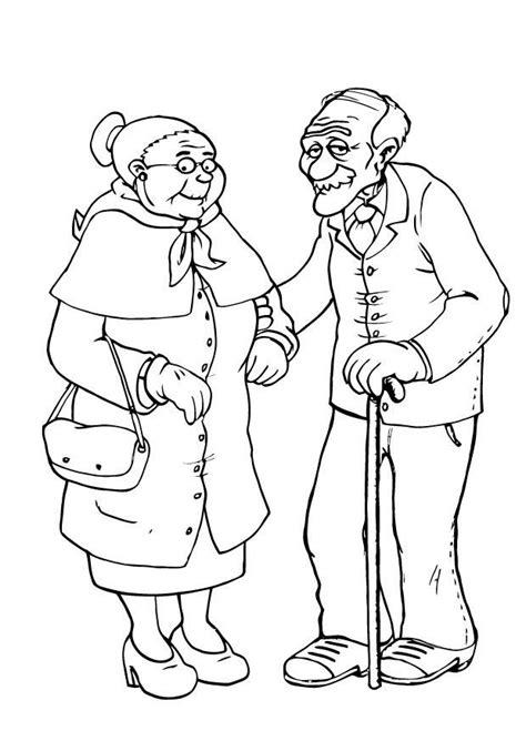 dibujos  colorear ancianos