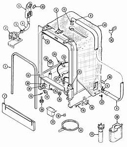 Tub Diagram  U0026 Parts List For Model Mdb6160aww Maytag
