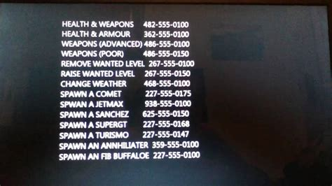 Gta 5 All Cheat Codes Ps3 Xbox 360