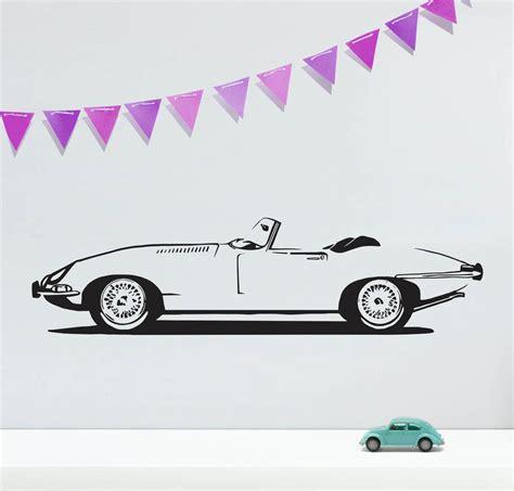 E Type Sports Car Vinyl Wall Sticker By Oakdene Designs