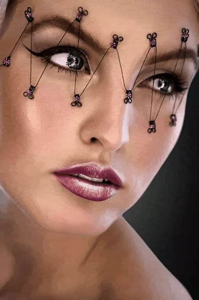 Makeup Halloween Cool Eye Eyes Unique Updo