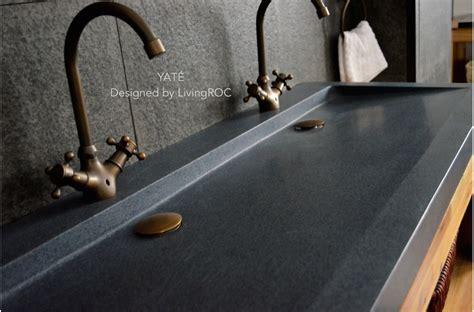 double faucet trough sink 1400mm double trendy trough grey granite bathroom basin love