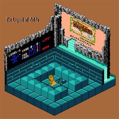 Zelda Legend Pixel Games Breath Wild Isometric
