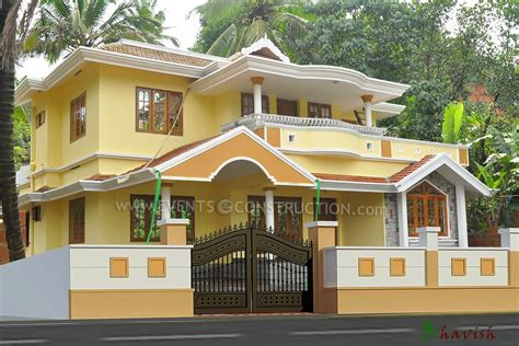 south indian house compound wall designs