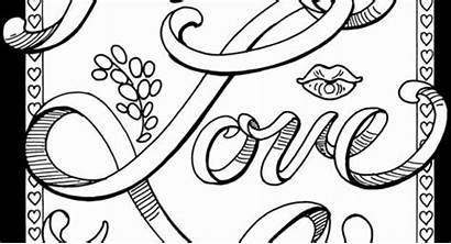 Coloring Pages Words Curse Printable Adults Inspiration
