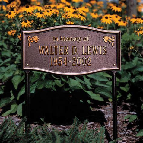 custom outdoor memorial plaques