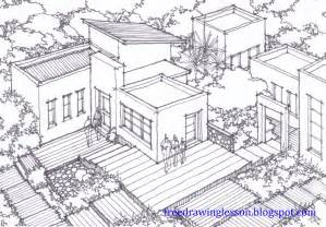 How to Draw Houses Drawing