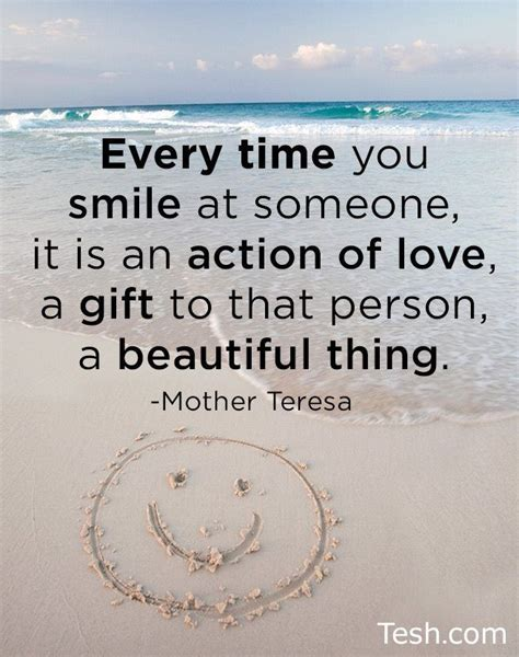 Quotes About Smile Mother Teresa