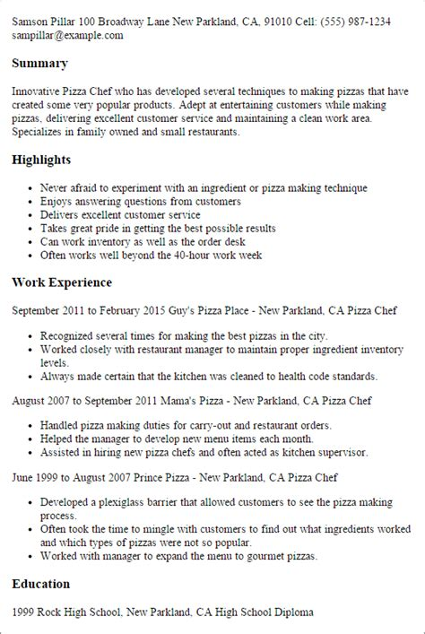 Culinary Resume Sle by Culinary Resume Templates To Impress Any Employer Livecareer