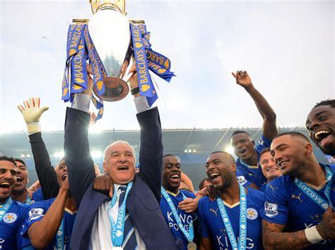 Leicester City champions: Soaked Claudio Ranieri ...