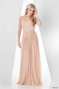 bari jay spring 2014 bridesmaids dresses sponsor With nude color wedding dress