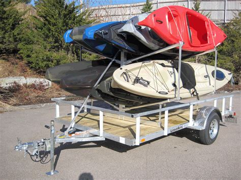 kayak rack for trailer trailer kayak rack cosmecol