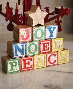 best 25 alphabet blocks ideas on pinterest diy vintage With noel wooden block letters