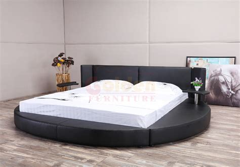 rotating bed 2016 latest design king size white leather round rotating beds buy round rotating beds cheap