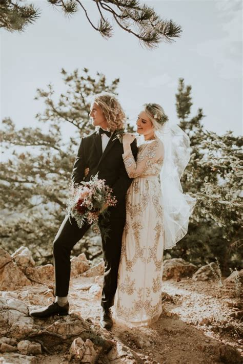 Stylish Earthy Colorado Wedding At Chautauqua Park