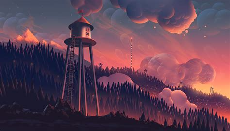 enter  magical world  illustrator aaron campbell