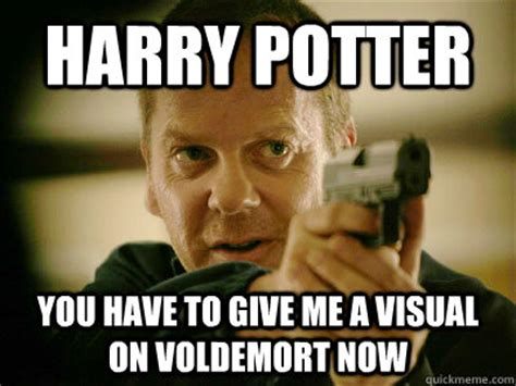 Harry Potter Meme Generator - harry potter you have to give me a visual on voldemort now jack bauer quickmeme