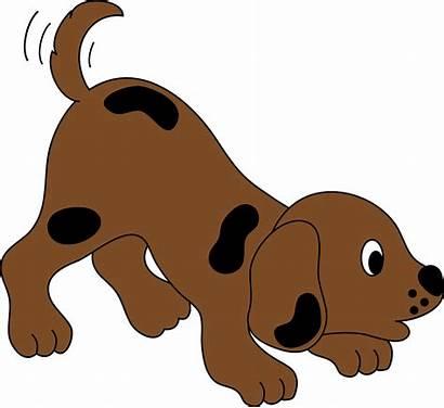 Clipart Dog Cartoon Clip Puppy Tail Animated