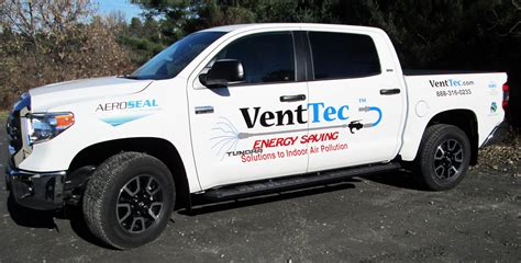 a of logo truck lettering truck lettering vent tec vehicle lettering sign here inc 83150