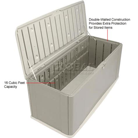Rubbermaid Deck Box Assembly by Bins Totes Containers Containers Deck Boxes