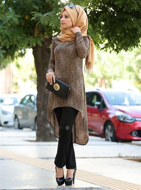 tunic brown zehrace muslim fashion muslim women fashion hijab dress