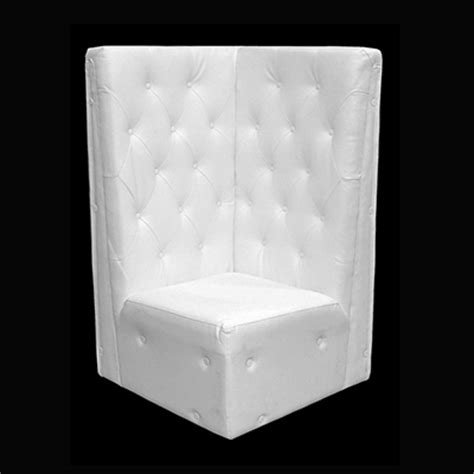 White Tufted by White Tufted Corner Chair Furniture Rental In College