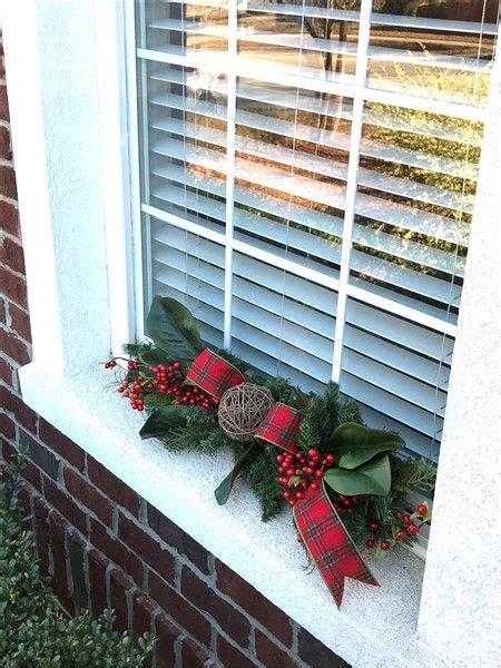 christmas window sill swag